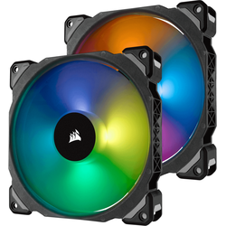ML Pro RGB 140 Two Fan Kit High Static Pressure, 140mm, 2 Fan Pack