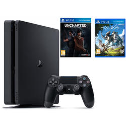 PlayStation 4 Slim, 1TB + Jocurile Horizon Zero Dawn/Uncharted: The Lost Legacy