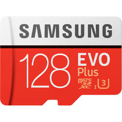 EVO Plus (Model 2017) Micro SDXC, 128GB, Clasa 10, UHS-I U3 + Adaptor SD