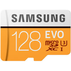 EVO (Model 2017) Micro SDXC, 128GB, Clasa 10, UHS-I U3 + Adaptor SD