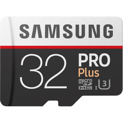 PRO Plus (Model 2017) Micro SDHC, 32GB, Clasa 10, UHS-I U3 + Adaptor SD