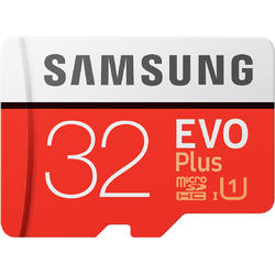 EVO Plus (Model 2017) Micro SDHC, 32GB, Clasa 10, UHS-I U1 + Adaptor SD