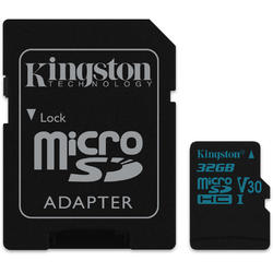 Canvas Go! Micro SDHC, 32GB, Clasa 10, UHS-I U3 + Adaptor SD