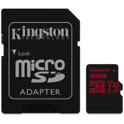 Canvas React Micro SDHC, 32GB, Clasa 10, UHS-I U3 + Adaptor SD