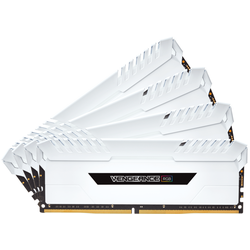 Vengeance White RGB LED, 32GB, DDR4, 3000MHz, CL16, 1.35V, Kit Quad Channel