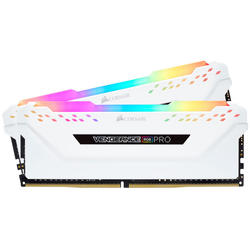 Vengeance RGB PRO White, 16GB, DDR4, 3000MHz, CL15, 1.35V, Kit Dual Channel