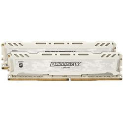 Ballistix Sport LT White, 16GB, DDR4, 2666MHz, CL16, 1.2V, Kit Dual Channel
