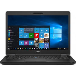 Latitude 5490, 14.0'' FHD, Core i7-8650U 1.9GHz, 8GB DDR4, 256GB SSD, Intel UHD 620, Win 10 Pro 64bit, Negru