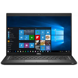 Latitude 7390, 13.3'' FHD, Core i7-8650U 1.9GHz, 16GB DDR4, 512GB SSD, Intel UHD 620, FingerPrint Reader, Win 10 Pro 64bit, Negru