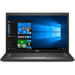 Latitude 7490, 14.0'' FHD Touch, Core i5-8350U 1.7GHz, 8GB DDR4, 256GB SSD, Intel UHD 620, FingerPrint Reader, Win 10 Pro 64bit, Negru