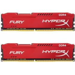 HyperX Fury Red, 16GB, DDR4, 2400MHz, CL15, Kit Dual Channel