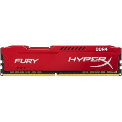 HyperX Fury Red, 8GB, DDR4, 3200MHz, CL18
