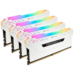 Vengeance RGB PRO White, 32GB, DDR4, 2666MHz, CL16, 1.2V, Kit Quad Channel