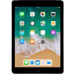 iPad (2018), 9.7'' LED-backlit IPS Retina Multitouch, Quad Core 2.34GHz, 2GB RAM, 32GB, WiFi, Bluetooth, 4G, iOS 11, Space Gray