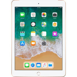 iPad (2018), 9.7'' LED-backlit IPS Retina Multitouch, Quad Core 2.34GHz, 2GB RAM, 32GB, WiFi, Bluetooth, 4G, iOS 11, Gold