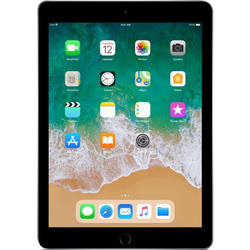 iPad (2018), 9.7'' LED-backlit IPS Retina Multitouch, Quad Core 2.34GHz, 2GB RAM, 128GB, WiFi, Bluetooth, iOS 11, Space Gray