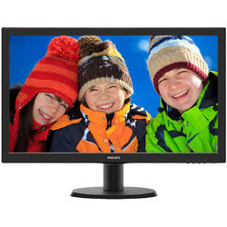 "243V5QSBA/01, 23.6"", Full HD, VA, 8 ms, DVI, Negru"