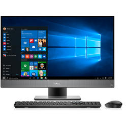 Inspiron 7777, 27.0'' FHD Touch, Core i7-8700T 2.4GHz, 16GB DDR4, 1TB HDD + 256GB SSD, Intel UHD 630, Win 10 Home 64bit, Negru/Argintiu