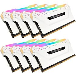 Vengeance RGB PRO White, 64GB, DDR4, 2666MHz, CL16, 1.2V, Kit x 8