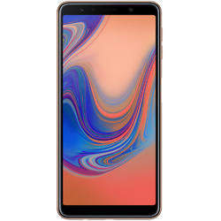 Galaxy A7 (2018), Dual SIM, 6.0'' Super AMOLED Multitouch, Octa Core 2.2GHz + 1.6GHz, 4GB RAM, 64GB, Triple 24MP + 5MP + 8MP, 4G, Gold