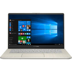 VivoBook S14 S430FA, 14 inch FHD, Intel Core i5-8265U, 8GB DDR4, 256GB SSD, GMA UHD 620, Win 10 Home, Icicle Gold