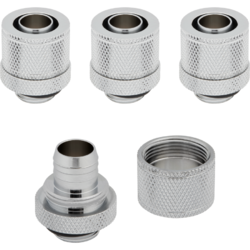 "Hydro X Series XF Compression 10/13mm (3/8"" / 1/2"") ID/OD Fittings Four Pack Chrom"