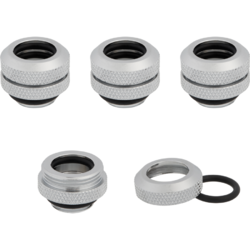 Hydro X Series XF Hardline 12mm OD Fittings Four Pack Chrom