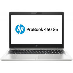 ProBook 450 G6, 15.6 inch FHD, Intel Core i5-8265U, 8GB DDR4, 256GB SSD, GeForce MX130 2GB, Win 10 Home, Silver
