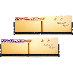 Trident Z Royal RGB DDR4 16GB (2x8GB) 3200MHz CL14 1.35V, Kit Dual Channel Gold