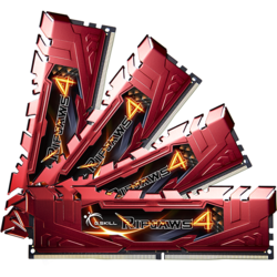 Ripjaws 4 32GB (4x8GB) DDR4 2666MHz, CL15, 1.20V, Kit Quad Channel, Red