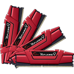 Ripjaws V 32GB (4x8GB) DDR4 2800MHz, CL15, 1.25V, Kit Quad Channel, Red