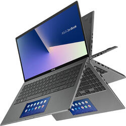 2-in-1 ZenBook Flip 15 UX562FDX, 15.6 inch UHD Touch, Intel Core i7-8565U, 16GB DDR4, 512GB SSD, GeForce GTX 1050 2GB, Win 10 Pro, Gun Grey