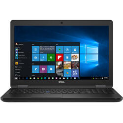 15.6'' Latitude 5591 (seria 5000), FHD, Intel Core i5-8400H (8M Cache, up to 4.20 GHz), 8GB DDR4, 256GB SSD, GMA UHD 630, FingerPrint Reader, Win 10 Pro, Black