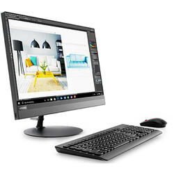 "IdeaCentre 520-22IKU, Intel Core i3-7020U, 21.5"" Full HD Touch, 4GB, 1TB + 128GB SSD, Intel HD Graphics 620, Free DOS, Black"