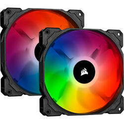 iCUE SP140 RGB PRO Performance 140mm Dual Fan Kit cu Lighting Node CORE