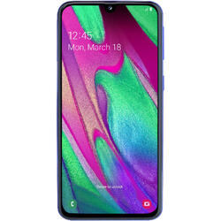 Galaxy A40 (2019), 5.9 inch Super AMOLED, Octa Core, 64GB, 4GB RAM, Dual SIM, 4G, 3-Camere, Fast Charge, Blue