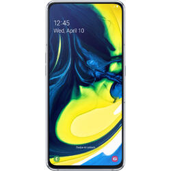 Galaxy A80 (2019), 6.7 inch Super AMOLED, Infinity Display, Octa Core, 128GB, 8GB RAM, Dual SIM, 4G, camera tripla rotativa, Ghost White