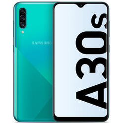Galaxy A30S (2019), 6.4 inch Super AMOLED, Infinity-V, Octa Core, 64GB, 4GB RAM, Dual SIM, 4G, 4-Camere, Fast Charge, Green