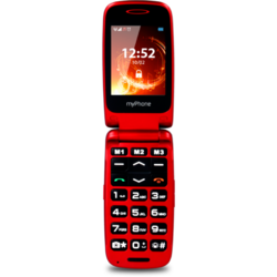 Rumba, Single Sim, 2.4 inch TFT, 128 MB, 64 MB RAM, Bluetooth, Red