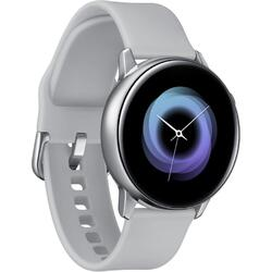 Galaxy Watch Active (2019), argintiu, curea silicon, WiFi, Bluetooth, GPS si NFC