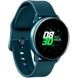 Galaxy Watch Active (2019), curea silicon, WiFi, Bluetooth, GPS si NFC, Verde inchis