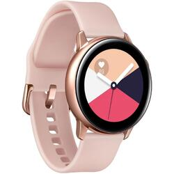 Galaxy Watch Active (2019), curea silicon, WiFi, Bluetooth, GPS si NFC, Auriu
