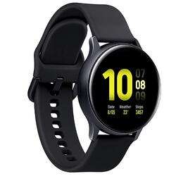 Galaxy Watch Active 2 (2019), 44 mm, Wi-Fi, Bluetooth, GPS, NFC, Rezistent la apa, Otel argintiu, Curea silicon, Negru