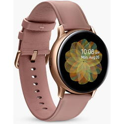 Galaxy Watch 2018, 42 mm, Wi-Fi, Bluetooth, GPS si NFC, Corp auriu, Curea silicon roz