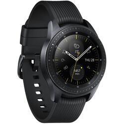 Galaxy Watch 2018, 42 mm, Wi-Fi, Bluetooth, GPS si NFC, Corp negru, Curea silicon negru