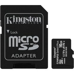 Canvas Select Plus micro SDHC 16GB, Clasa 10 + Adaptor SD