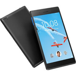 Tab E7 TB-7104I, 7 inch Multi-touch, Cortex-A7 1.3 GHz Quad Core, 1GB RAM, 16GB flash, Wi-Fi, Bluetooth, Android 8.0, Slate black