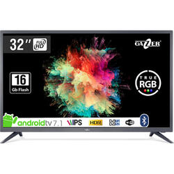 Smart TV Android 32-HS2 Seria HS2, 80cm, HD Ready, Gri-Negru