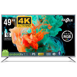 Smart TV Android 49-US2 Seria US2, 124cm, 4K UHD, HDR, Gri-Negru