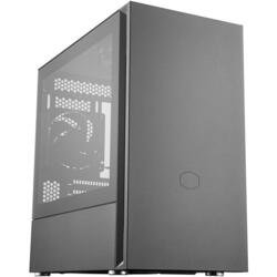 Silencio S400 TG, Tempered Glass, MiniTower, Fara sursa, Negru